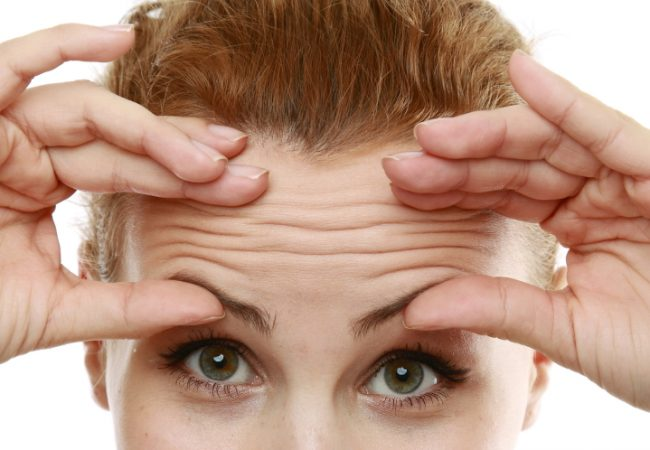 Get rid of forehead wrinkles